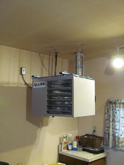 garage heater installation
